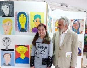 ucenica Lana Sipka pored svog rada sa mentorom